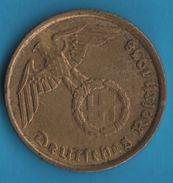 DEUTSCHES REICH 5 REICHSPFENNIG 1938 G KM# 91 (svastika) - [ 4] 1933-1945 : Third Reich