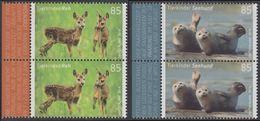 !a! GERMANY 2018 Mi. 3352-3353 MNH SET Of 2 Vert.PAIRS W/ Left Margins - Baby Animals - BRD