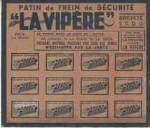 """Carton - Présentoir Pour Patins De Frein"""" La Vipère"""" - Cyclisme - Vélo - Publicités"""