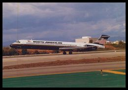 AIRPLANES - MODERN ERA - «NORTH AMERICAN» MD-83. Carte Postale - 1946-....: Moderne