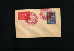 Yugoslavia 1930 Beograd Sokol Meeting Interesting Postmark With Scarce Label - 1919-1929 Königreich Der Serben, Kroaten & Slowenen