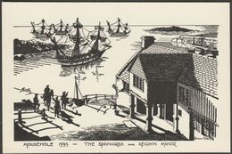 The Spaniards And Keigwin Manor In 1595, Mousehole, Cornwall, C.1960 - Postcard - England