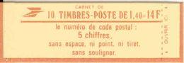 FRANCE - BOOKLET / CARNET, Yvert 2102-c4, 1980, 10 X 1.40 Sabine Red - Libretti
