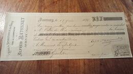 Mandat A Ordre De 1896 Vins De Champagne Avenay (marne) - Alimentaire