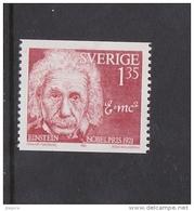 NOBELPREIS PRIX NOBEL PRIZE PHYSICS 1921 EINSTEIN SWEDEN SUEDE SCHWEDEN1981 MI 1175 MNH - Albert Einstein