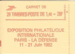 FRANCE - BOOKLET / CARNET, Yvert 2102-c8, 1980, 20 X 1.40 Sabine Red - Carnets