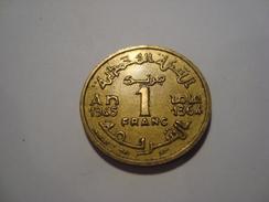 MONNAIE MAROC 1 FRANC 1945 / 1364 - Morocco