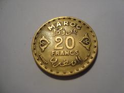 MONNAIE MAROC 20 FRANCS 1371 - Morocco