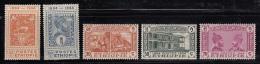 Ethiopia 1947 MH Scott #273-#277 Set Of 5 50th Anniv Postal Service - Ethiopie