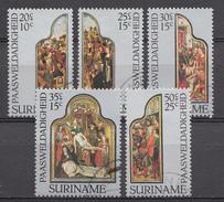 Surinam 1977 Mi.nr.: 759-763 Osternmarken Altarbilder  Oblitérés / Used / Gestempeld - Suriname
