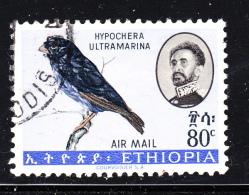 Ethiopia 1963 Used Scott #C81 80c Purple Indigo Bird - Ethiopie