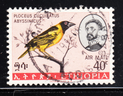 Ethiopia 1967 Used Scott #C111 40c Black-winged Lovebird - Ethiopie