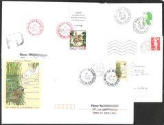 FRANCE '62 MONT ST ELOI'  1982/1995  4 OBLITERATIONS - Marcophilie (Lettres)