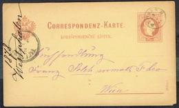 Correspondenz-Karte (Mit 1 Aufdrückte Briefmark; MM N° 35 - Y & T N° 32) - DYMOKAR (?) Nach WIEN - 19/10/1878. - Levant Autrichien