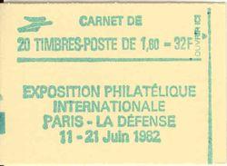 FRANCE - BOOKLET / CARNET, Yvert 2155-c4a, 1981, 20 X 1.60 Sabine Red - Markenheftchen
