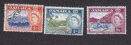 Jamaica, Scott #167-169, Used, Scenes Of Jamaica, Issued 1956 - Jamaïque (...-1961)