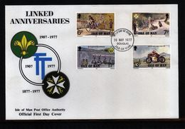 Isle Of Man1977 TT Races Michel 97-100 FDC - Motorbikes