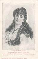 MAGDALENA CINTI In Costume Montenegrino, 10 C Marke Gel. Nach Paris, Karte Mit Eckknick - Personen