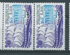 [18] Variété : N° 2048 Nantes Batiments Bleu Pâles + Normal  ** - Varieties: 1970-79 Mint/hinged