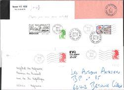 FRANCE '62 ROEUX'  1987/1996  6 MARQUES POSTALES Et  OBLITERATIONS - Marcophilie (Lettres)