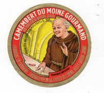 Jan18    54103  étiquette  Camembert  Du Moine Gourmand Jarny - Kaas
