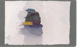 CARTE-PUCE-LUXEMBOURG-120U-SC7-SC 1994-ART CONTEMPORAIN-Roger BERTEMES-AQUARELLE-TBE - Luxembourg