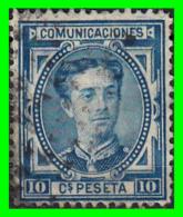 ESPAÑA SELLO  REINADO DE ALFONSO XII  AÑO 1876 10 Cts: COLOR  AZUL - 1873-74 Regencia