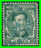ESPAÑA SELLO  REINADO DE ALFONSO XII  AÑO 1876 50 Cts: COLOR VERDE - 1873-74 Regencia
