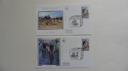France :FDC : 1 Er Jour :Paris Roubaix 2002 :2 Enveloppes  N°3481 - 2000-2009