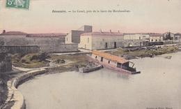 BEAUCAIRE 30 LE CANAL PRES DE LA GARE DES MARCHANDISES PEU COMMUNE BELLE CARTE RARE !!! - Beaucaire