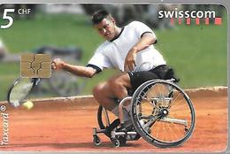 CARTE-PUCE-SUISSE-10CHF-2001-TENNIS HANDI-TENNIS World Team CUP 01-TBE - Sport