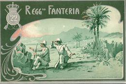 """327 - """"22° REGGIMENTO FANTERIA """" CARTOLINA ORIGINALE - NON SPEDITA - Regiments"""