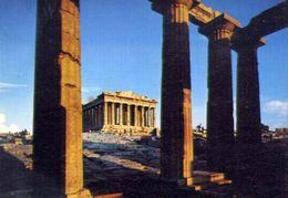 Athenes - Le Parthenon Vu De L'interieur Des Propylees - Formato Grande Viaggiata Mancante Di Affrancatura – E 3 - Grecia