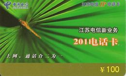 CARTE-PREPAYEES-CHINA Telecom-100Y-LIBELLULE-TB E- - Andere