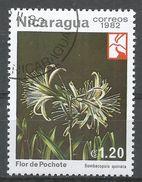 Nicaragua 1982. Scott #1192 (U) Bombacopsis Quinata, Fleurs, Flor, Flowers - Nicaragua
