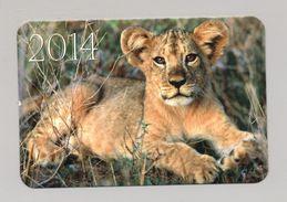 ANIMALS Pocket Calendar 2014 UKRAINE Lion Lionet - Calendarios