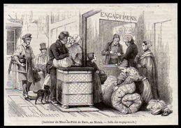 1842  --  PARIS  INTERIEUR DE MONT DE PIETE   AU MARAIS   3N255 - Ohne Zuordnung