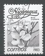 Nicaragua 1983. Scott #1209 (U) Bixa Orellana, Fleurs, Flowers - Nicaragua