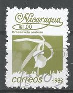 Nicaragua 1983. Scott #1210 (U) Brassavola Nodosa, Fleurs, Flowers - Nicaragua