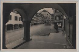 Wil SG - Hofplatz, Cafe, Brunnen - Photoglob - SG St. Gall
