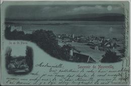 Souvenir De Neuveville - Ile De St. Pierre - Mondschein Lune - VD Vaud