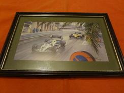 Impression De Michael Turner - 1983 - F1 - Williams Et Renault - K. Rosberg Et Alain Prost - Grand Prix De Monaco - Automobile - F1