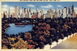 Central Park And Midtown Skyline - New Yorkcity - Formato Grande Non Viaggiata – E 3 - Cartoline