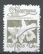 Nicaragua 1983. Scott #1211 (U) Cattleya Lueddemanniana, Fleurs, Flowers - Nicaragua