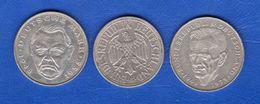 All  2  Mark  3  Pieces - [ 7] 1949-… : RFA - Rep. Fed. Tedesca