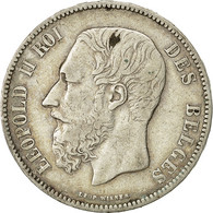 Belgique, Leopold II, 5 Francs, 1873, KM 24 - 1865-1909: Leopold II
