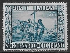 Italia Italy 1951 Colombo Sa N.660 Nuovo MH * - 6. 1946-.. Repubblica