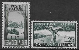Italia Italy 1951 Alberi Sa N.680-681 Completa Nuova MH * - 6. 1946-.. Repubblica