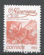 Nicaragua 1983. Scott #1213 (U) Hibiscus Rosa-sinensis, Fleurs, Flowers - Nicaragua