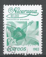 Nicaragua 1983. Scott #1215 (U) Malvaviscus Arboreus, Fleurs, Flowers - Nicaragua